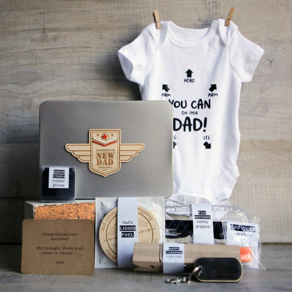Personalized New Dad Survival Kit