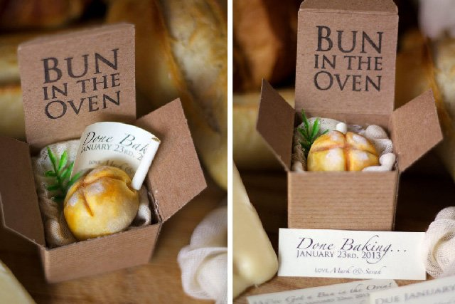 A Bun in the Oven pregnancy reveal